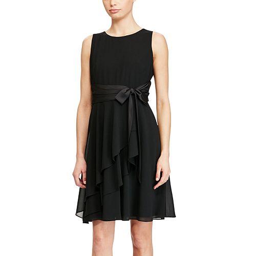 Women S Chaps Ruffle Georgette Evening Dress