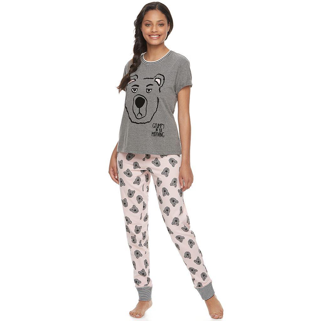 Juniors' Peace, Love & Fashion Pajamas: Tee & Jogger Pants PJ Set