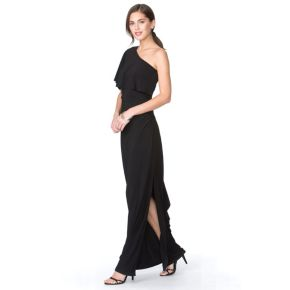 Women's Chaps One-Shoulder Evening Gown