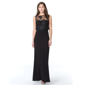 Women's Chaps Sequin Lace-Overlay Evening Gown