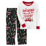 "Toddler Boy Carter's ""Dashing Through the Snow"" Top & Microfleece Bottoms Pajama Set"