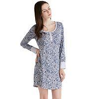 Women's INK+IVY Pajamas: Long Sleeve Henley Sleep Shirt