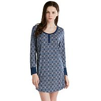 Women's INK+IVY Pajamas: Long Sleeve Henley Sleep Shirt