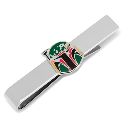 Star Wars Boba Fett Distressed Helmet Tie Bar