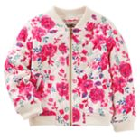 Girls 4-12 OshKosh B'gosh® Quilted Floral Bomber Jacket