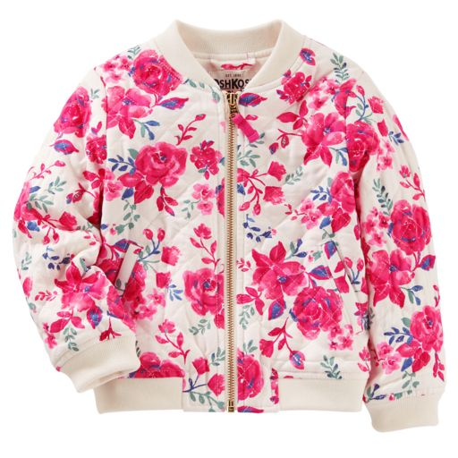 Girls 4-12 OshKosh B'gosh® Quilted Floral Bomber Jacket