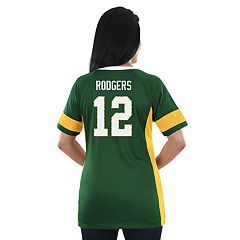 Women's Majestic Green Bay Packers Aaron Rodgers Draft Him Fashion Top