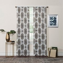 eclipse Thermaweave Room Darkening 1-Panel Olivia Window Curtain
