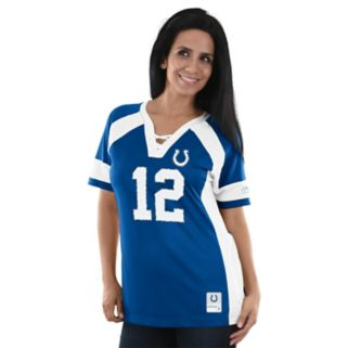 Women's Majestic Indianapolis Colts Andrew Luck Draft Him Fashion Top
