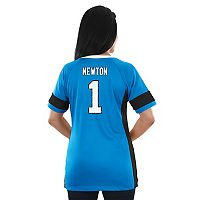Women's Majestic Carolina Panthers Cam Newton Draft Him Fashion Top