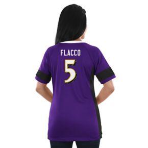 Women's Majestic Baltimore Ravens Joe Flacco Draft Him Fashion Top