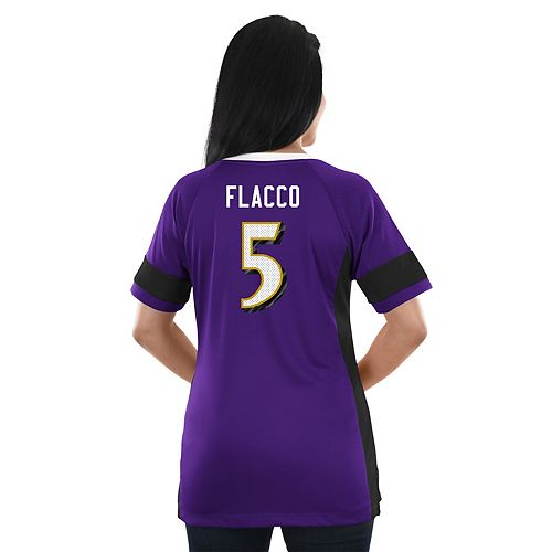 Women's Majestic Baltimore Ravens Joe Flacco Draft Him Fashion Top
