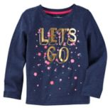 "Girls 4-12 OshKosh B'gosh® ""Let's Go"" Floral Graphic Tee"