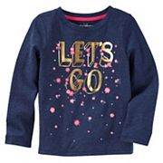 Girls 4-12 OshKosh B'gosh® 'Let's Go' Floral Graphic Tee