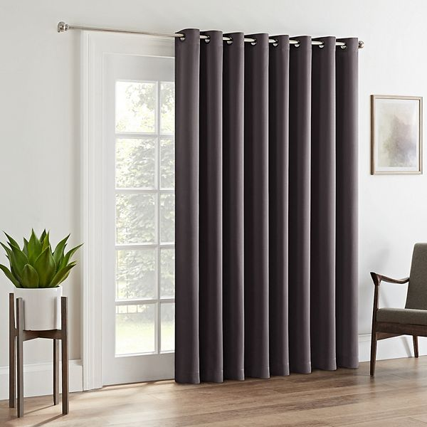 Eclipse Tricia Room Darkening Patio Door Curtain