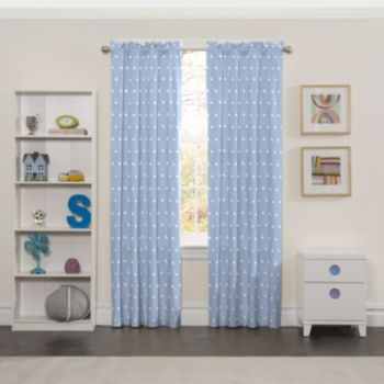 eclipse Thermaback Blackout 1-Panel MyScene Cozy Cumulus Cloud Window Curtain