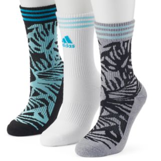 Women's adidas 3-pk. Palm Cushioned Compression Crew Socks