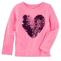 Girls 4-12 OshKosh B'gosh® Sequin Flip Heart Graphic Tee