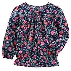 Girls 4-12 OshKosh B'gosh® Floral Smocked Top