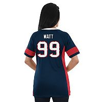 Women's Majestic Houston Texans J.J. Watt Draft Him Fashion Top