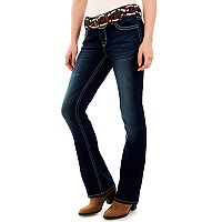 Juniors' Wallflower Curvy Dark Wash Bootcut Jeans
