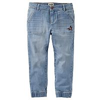 Girls 4-12 OshKosh B'gosh® Butterfly Denim Jogger Pants