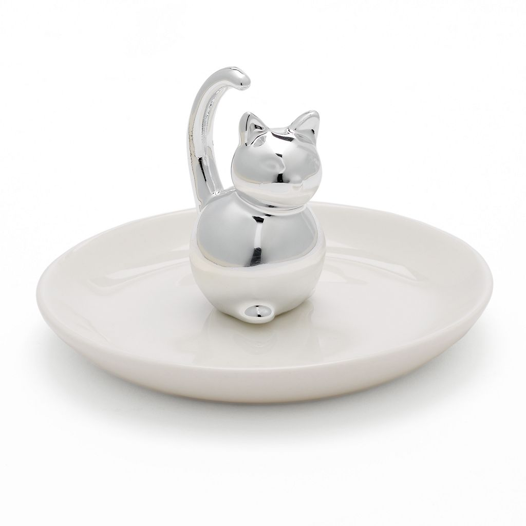 LC Lauren Conrad Cat Ring Holder Trinket Tray