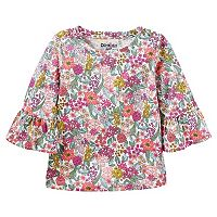 Girls 4-12 OshKosh B'gosh® Floral Print Bell Sleeve Top