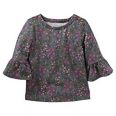 Girls 4-12 OshKosh B'gosh® Bell Sleeve Floral Print Top