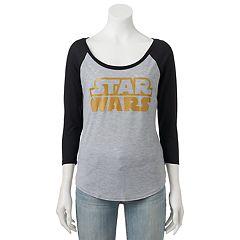 Juniors' Star Wars Logo Raglan Graphic Tee