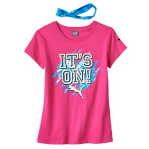 Girls 7-16 PUMA Graphic Tee with Headband