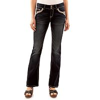 Juniors' Wallflower Luscious Curvy Dark Wash Bootcut Jeans