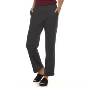 Petite Croft & Barrow® Pull-On Knit Pants