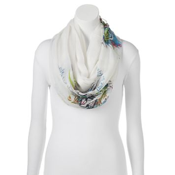 love this life Peacock Feather Infinity Scarf