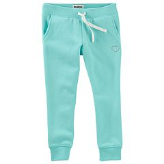 Girls 4-12 OshKosh B'gosh® Teal Embroidered Knit Pants