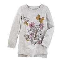 Girls 4-12 OshKosh B'gosh® Floral Glitter High-Low Tunic Top