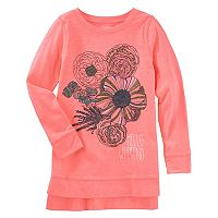 Girls 4-12 OshKosh B'gosh® Glitter Floral High-Low Tunic Top