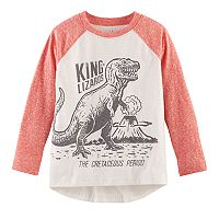Toddler Boy Jumping Beans® Slubbed Raglan Long Sleeve Graphic Tee