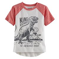 Toddler Boy Jumping Beans® Slubbed Raglan Hi Low Graphic Tee