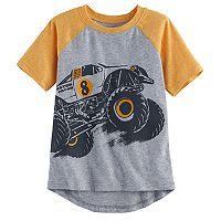 Toddler Boy Jumping Beans® Slubbed Raglan Hi Low Graphic Tee