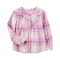 Girls 4-12 OshKosh B'gosh® Flannel Buttonfront Top