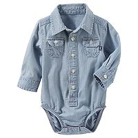 Baby Boy OshKosh B'gosh® Chambray Button-Front Bodysuit