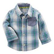 Baby Boy OshKosh B'gosh® Plaid Poplin Shirt
