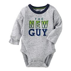 Baby Boy OshKosh B'gosh® 'The New Guy' Graphic Nep Bodysuit