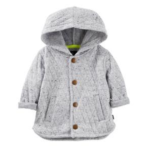 Baby Boy OshKosh B'gosh® Hooded Quilted Cardigan