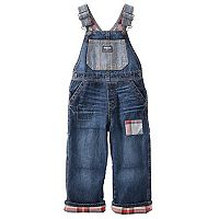 Baby Boy OshKosh B'gosh® Plaid Flannel Lined Overalls