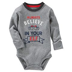 Baby Boy OshKosh B'gosh® 'Always Believe In Your Elf' Bodysuit