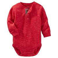 Baby Boy OshKosh B'gosh® Solid Thermal Henley Bodysuit