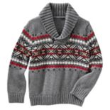 Baby Boy OshKosh B'gosh® Fairisle Pullover Shawl Sweater