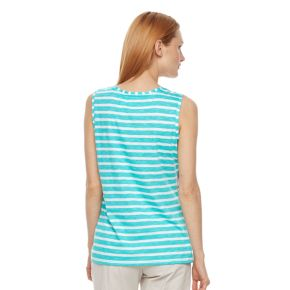 Women's Caribbean Joe Floral Striped Tank